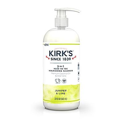 Kirks Natural 柯氏經典 – 全身沐浴洗髮精- 嫩嫩萊姆杜松 946mL