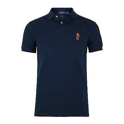 Polo Rlaph Lauren 年度熱銷限定泰迪熊刺繡短袖Polo衫-深藍色