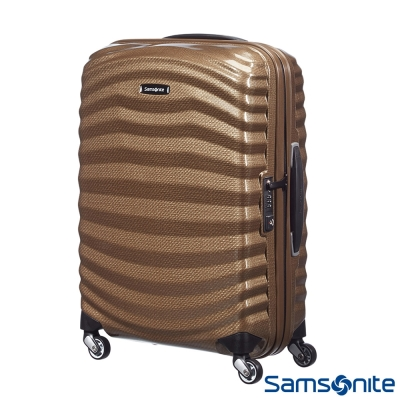 Samsonite新秀麗 25吋Lite Shock極輕Curv四輪拉桿頂級硬殼箱  流沙色