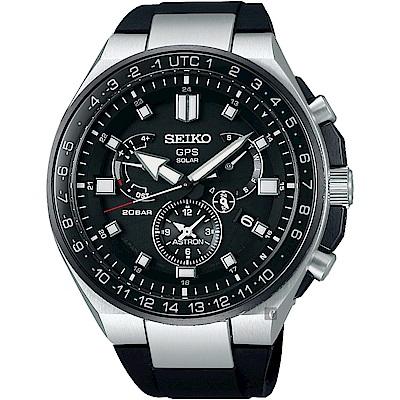 SEIKO精工 ASTRON 8X53 雙時區鈦GPS衛星定位手錶(SSE169J1)