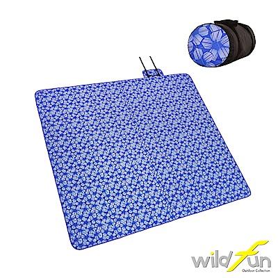 WildFun 300x300四季可用舒適舖棉地墊 蝶豆花