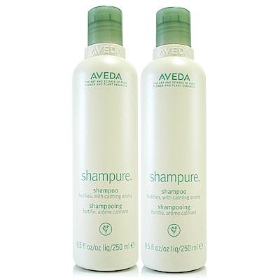 AVEDA 純香洗髮菁250mlx2(洗髮精)+專櫃試用包*1(隨機)