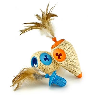 L chic四合一滾滾貓抓玩具、圓錐體、橘色