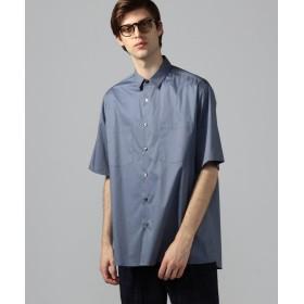 トゥモローランド コンパクトツイルストレッチ 半袖ビッグシャツ メンズ 65ブルー 1 【TOMORROWLAND】