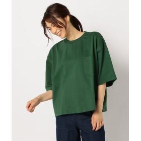 【30%OFF】 フレディアンドグロスター MAX WEIGHT CUT POCKET Tシャツ レディース グリーン XL 【FREDY & GLOSTER】 【セール開催中】
