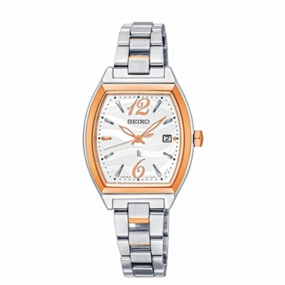 SEIKO 精工LUKIA 太陽能酒桶型腕錶-雙色V137-0CE0C/SUT358J1