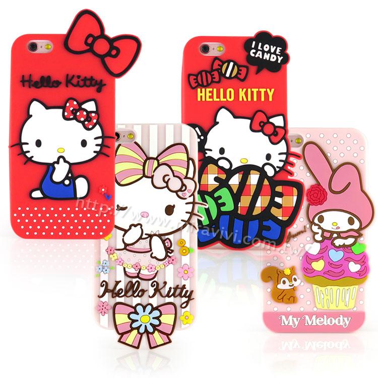 【Sanrio】iPhone 6/6s 可愛2D立體保護套-第二彈