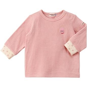 ミキハウス 接結天竺長袖Tシャツ ピンク