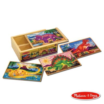 美國瑪莉莎 Melissa & Doug 盒中木製拼圖 - 恐龍