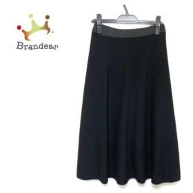 ランバンコレクション ロングスカート サイズ40 M レディース 美品 黒 ウェストゴム 新着 20190618