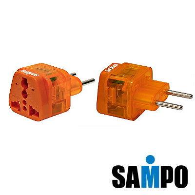 SAMPO旅行萬用轉接頭(防雷擊型EP-UJ1B)-2入