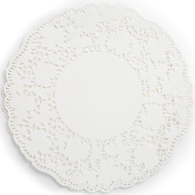 《FOXRUN》8吋蕾絲花邊蛋糕紙墊24入(白)