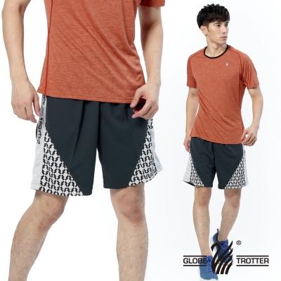 【遊遍天下】MIT台灣製男款吸濕排汗透氣藍球短褲P122A灰色