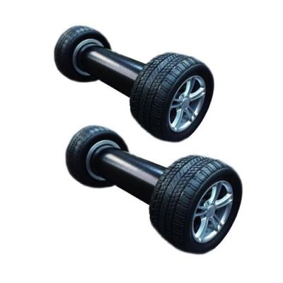 金德恩 二入逼真汽車輪胎啞鈴 2200克