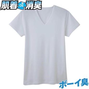 GUNZE グンゼ 【肌着DE消臭】VネックTシャツ(V首)(メンズ)【SALE】 ホワイト LL