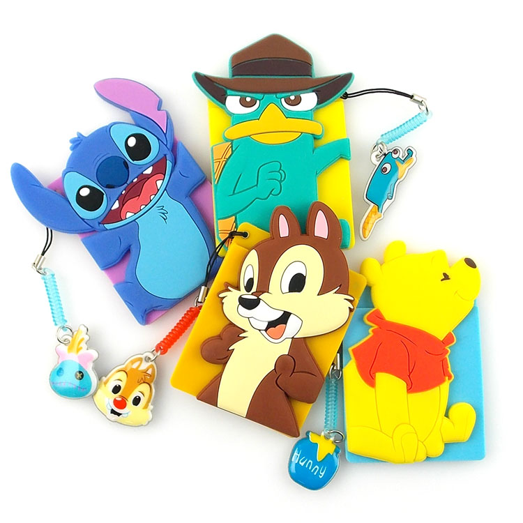【Disney】 可愛人物造型繽紛卡夾手機背貼-史迪奇/維尼/奇奇/泰瑞