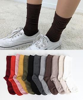 韓國空運 - Daily plain socks 襪子