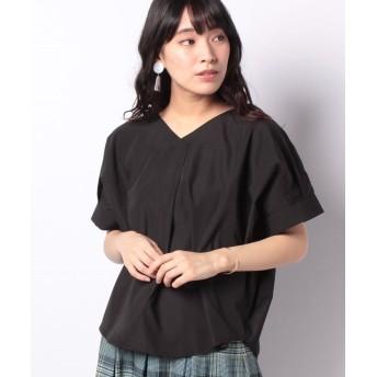 【60%OFF】 コエ Vネックスキッパーシャツ レディース ブラック F 【koe】 【セール開催中】