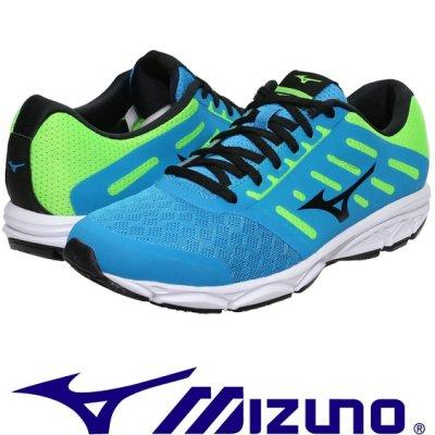 鞋大王Mizuno J1GE-183810 水藍 EZRUN 慢跑鞋(有12號)【免運費,加贈襪子】704M