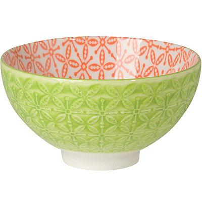 NOW 雙色壓紋餐碗(綠)