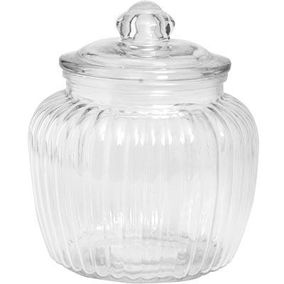 《EXCELSA》菊花紋玻璃密封罐(1400ml)