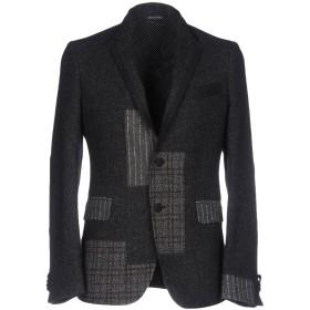 《セール開催中》BRIAN DALES メンズ テーラードジャケット ブラック 50 ウール 58% / ナイロン 15% / ポリエステル 10% / レーヨン 10% / シルク 7%