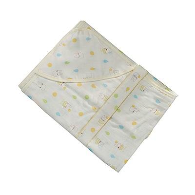 嬰兒純棉紗布多功能包巾 b0162 魔法Baby