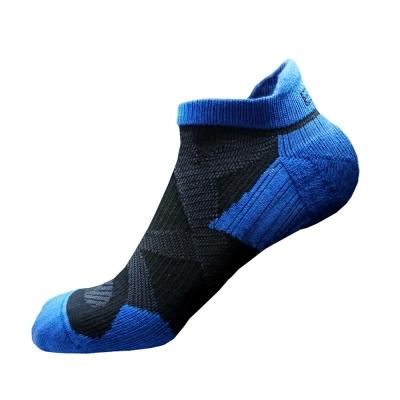 EGXtech 2X強化穩定壓縮踝襪(黑藍)超值2雙組