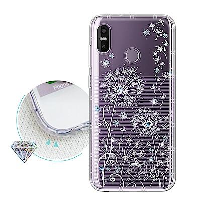 HTC U12 Life 浪漫彩繪 水鑽空壓氣墊手機殼(風信子)