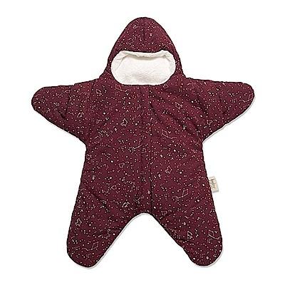 【小海星輕量版-葡萄紅】鯊魚咬一口BabyBites純棉嬰幼兒睡袋