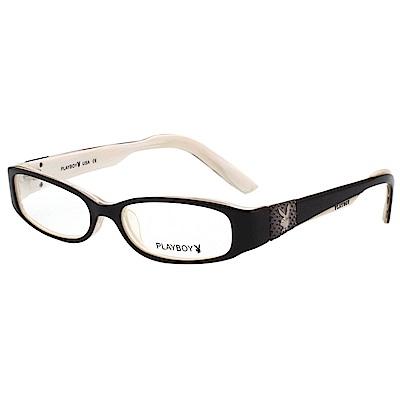 PLAYBOY 時尚光學眼鏡 黑色 PB85177