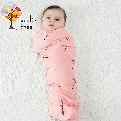 Muslin tree 嬰兒多功能竹纖維雙層紗布包巾 2條入