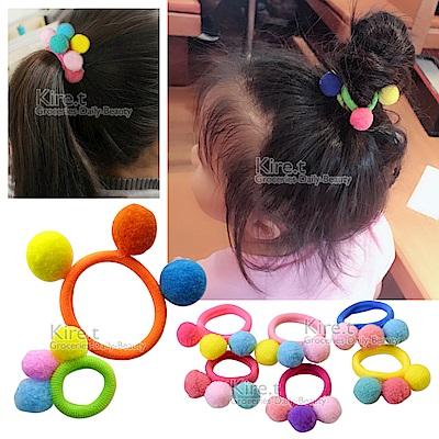日韓 兒童 甜美繽紛 小球女孩 親子 髮束 髮圈 kiret-大球+小球超值10入