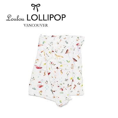 加拿大Loulou lollipop 竹纖維透氣包巾120x120cm-森林小動物