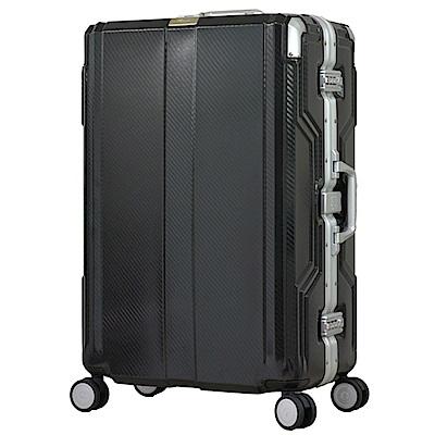 日本LEGEND WALKER 6720-62-25吋 發光圓環把手行李箱 非洲黑