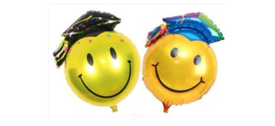 【氣球批發廣場】25吋  畢業鋁箔球 學士帽 博士笑臉 畢業造型氣球 畢業鋁箔氣球禮物 畢業典禮會場佈置