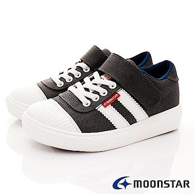 日本月星頂級童鞋 2E靜態防水運動款 FI076黑(中大童段)
