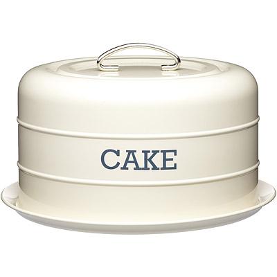 KitchenCraft 復古蛋糕密封盤(奶油黃)