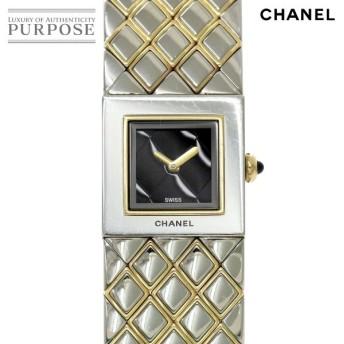 シャネル CHANEL マトラッセ H0475 レディース 腕時計 コンビ ブラック 文字盤 クオーツ ウォッチ