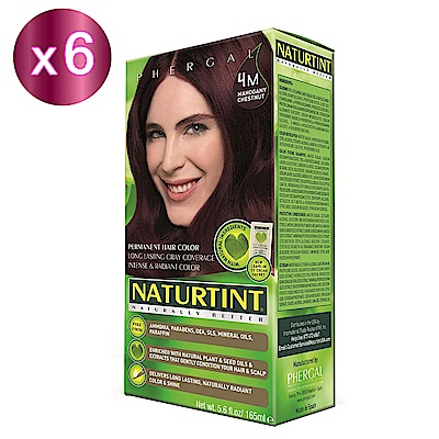 NATURTINT 赫本染髮劑 4M 深棕紅(6盒裝) (155ml/盒)