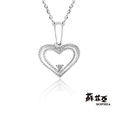 SOPHIA 蘇菲亞珠寶 - 怦然心動 9K白金 鑽石項鍊