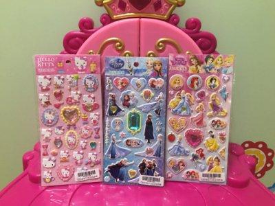 *1/2美人魚*蘇菲亞 迪士尼公主 樂佩 白雪 灰姑娘 正版 艾莉兒 貼鑽 寶石 立體 鑽石 貼紙 生日禮物60元