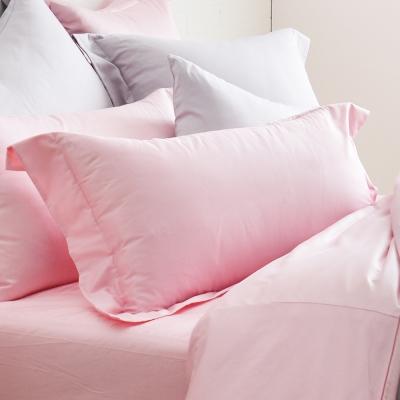 Cozy inn 極致純色-珠光粉-300織精梳棉枕頭套-2入
