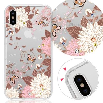 YOURS APPLE iPhone Xs / iPhone X 奧地利彩鑽防摔手機殼-羽蝶
