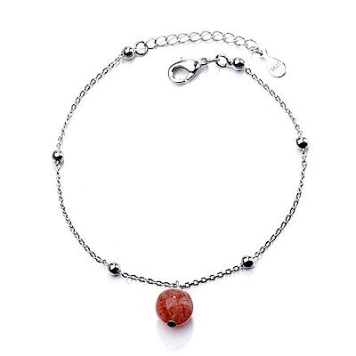 iSFairytale伊飾童話 草莓氣泡 水晶珠銅電鍍手鍊