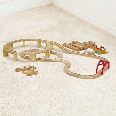 台灣 KCfriends 木製軌道車玩具-100pcs木製火車軌道組