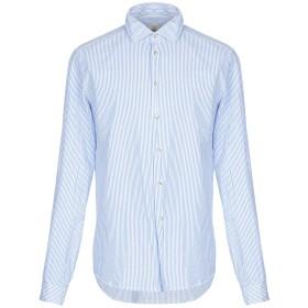 《セール開催中》SALI & TABACCHI メンズ シャツ ブルー 43 コットン 100%