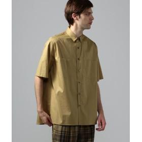 トゥモローランド コンパクトツイルストレッチ 半袖ビッグシャツ メンズ 45キャメル 0 【TOMORROWLAND】