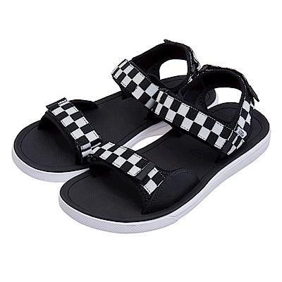 (男)VANS TRI-LOCK 棋盤格織帶涼鞋*黑色VN0A3WLF5GU