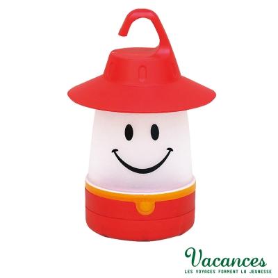 【VACANCES】日系 世界 紅色 微笑 LED 露營燈